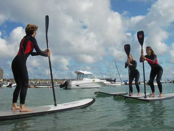 Cardigan Bay Watersports paddleboard aerobics